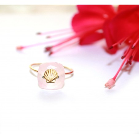 Bague Siren quartz rose