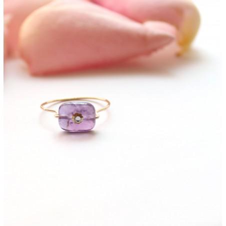 Bague Flora Mini violette