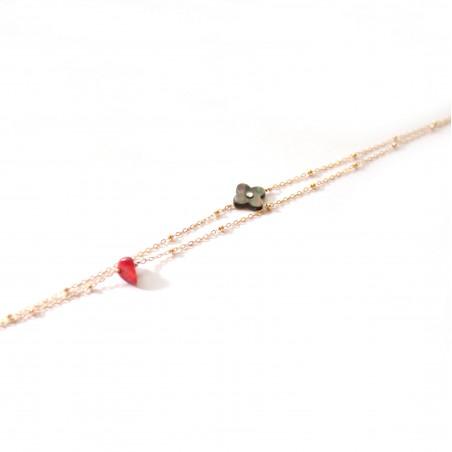 Bracelet Nacre Trèfle